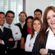 Business woman and her team — Stock Photo #7750783