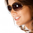 Stock Photo: Beautiful womwith sunglasses