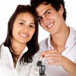 Stockfoto: Couple with some keys