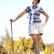 Woman playing golf — Photo #7750800