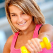 Woman at the gym — Stock Photo #7750814