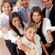 Business group with thumbs up — Stock Photo #7750839