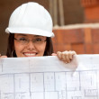 Engineer with a model — Stock Photo #7750880