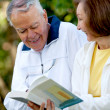 Retired couple outdoors — Stock Photo