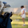 Bag of golf clubs - Stockfoto