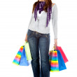 Woman with shopping bags — Stock Photo #7750927
