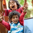 Kids playing at the park — Stock Photo