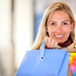 Beautiful shopping woman — Stock Photo #7750968
