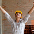 Happy construction worker — Foto de Stock
