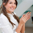 Royalty-Free Stock Photo: Business woman applauding