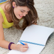 Beautiful girl studying — Stock Photo #7751106