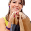 Stock Photo: Shopping girl with bags