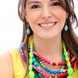 Girl with colorful jewelry — Stock Photo #7751156