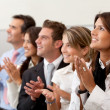 Business team applauding — Stock Photo #7751191