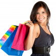 Beautiful shopping woman — Stock Photo #7751218