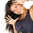 Fun woman smiling — Stock Photo #7751244
