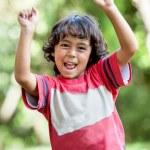 Happy boy at the park — Stock Photo