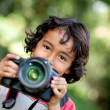Child photographer — Stock Photo #7751301