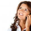 Foto Stock: Business woman on the phone