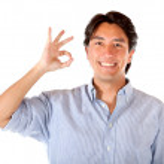 Man making an ok sign — Stock Photo #7751427