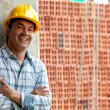 Happy construction worker — Stock Photo
