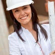 Female architect at a construction site — Stock Photo #7751439