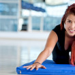 Gym womstretching — Stock Photo #7751491