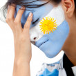 Worried argentinean football fan — Stock Photo
