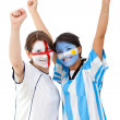 Football fans — Stock Photo #7751535