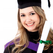Female graduate — Stock Photo