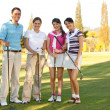 Group of golf players — Stock Photo
