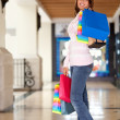 Beautiful shopping woman — Stock Photo