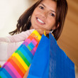 Beautiful shopping woman - Stok fotoğraf