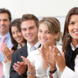 Business team applauding — Stock Photo #7751713