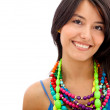 Woman with colorful jewelry — Stock Photo