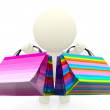 3D shopping person — Stockfoto