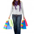 Shopping woman walking — Stock Photo