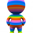 3D rainbow man - Stock Photo