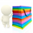 3D shopping person — Stock Photo