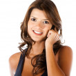 Casual woman on the phone - Stock Photo