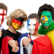Foto de Stock  : International football fans