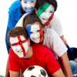 Stock Photo: International football fans
