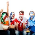 International football fans — Stock Photo