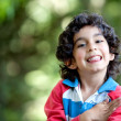 happy Boy im freien — Stockfoto