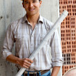 Male architect at a construction site - Stock Photo