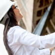 Royalty-Free Stock Photo: Female engineer at a construction site