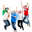 Football fans jumping — Stock Photo #7752177