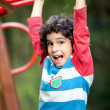 Boy playing at the park - Stock Photo