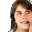 Woman with a headset — Stock Photo #7752244