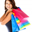 Woman with shopping bags - Foto de Stock  